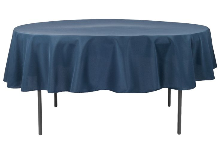 """Polyester 90"""" Round Tablecloth - Navy Blue (new tone)"""