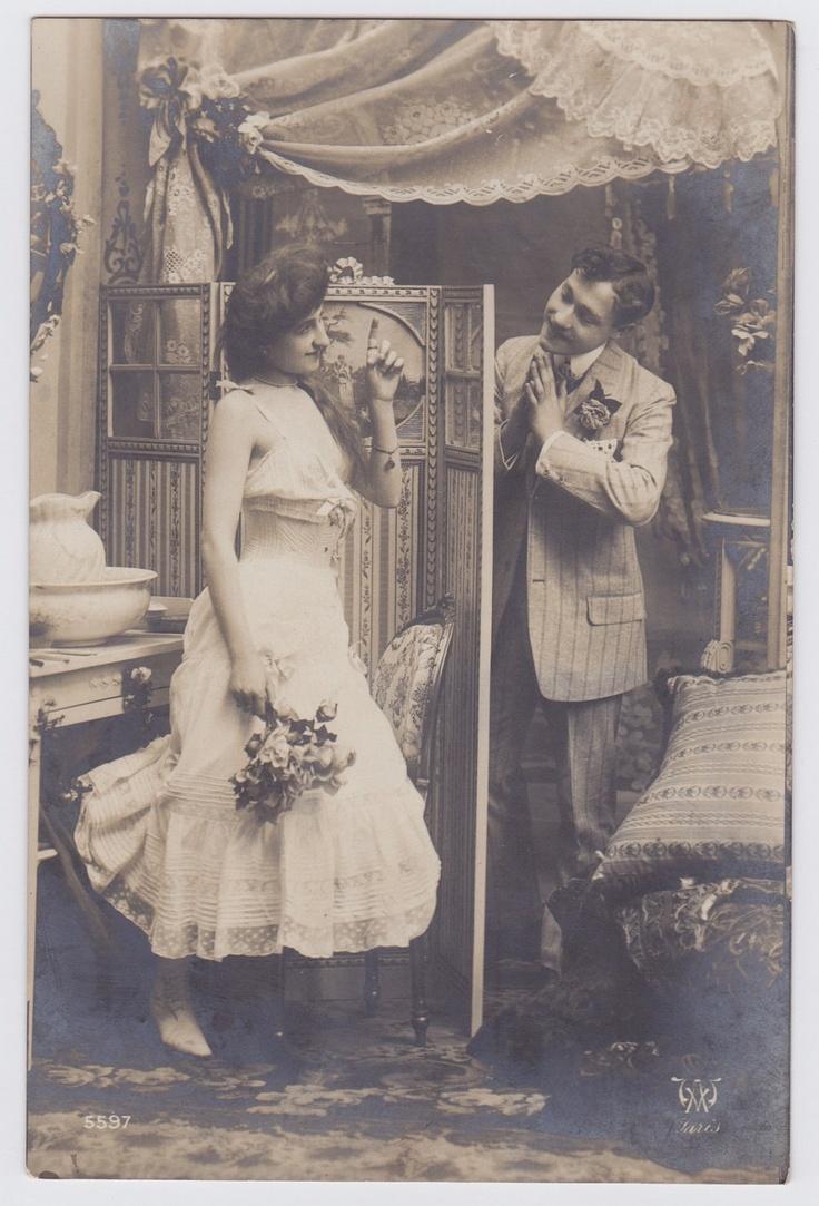 Antique French postcard, photograph, vintage postcard, vintage french postcard. €4.00, via Etsy.