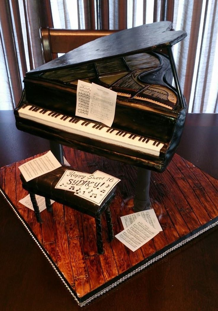 Piano Lavoro Cake Design : 17 Best ideas about Piano Cakes on Pinterest Music cakes ...