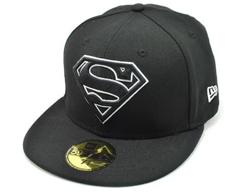 Black Superman fitted hat