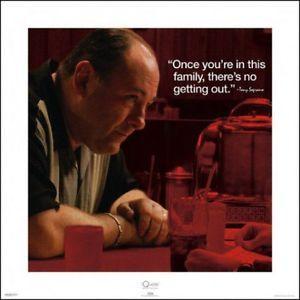 Die Sopranos -James Gandolfini Poster Kunstdruck (40x40cm) #67891