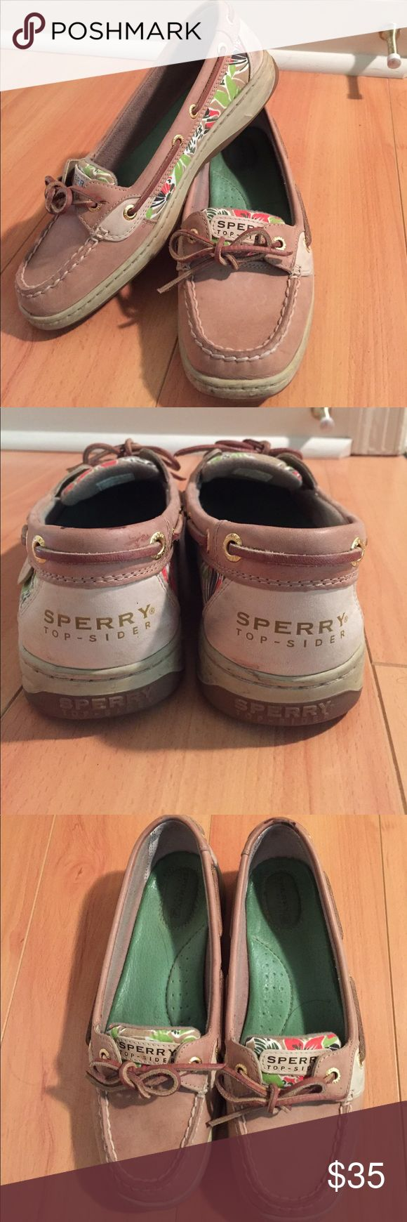 Sperry Boat Shoes Size 8 sperry boat shoes with a floral exterior pattern. Sperry Top-Sider Shoes Flats & Loafers