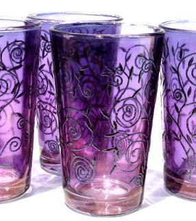 Zarga tea glasses, made in Morocco
