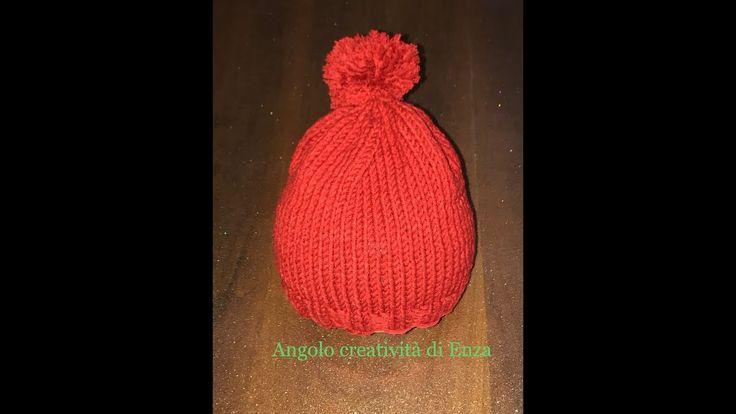 Cappello ai ferri facilissimo/Easy knit hat/Sombrero de punto fácil