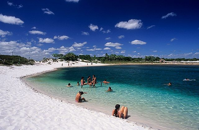 Jericoacoara beach, considered to be one of the most beautiful beaches in the world