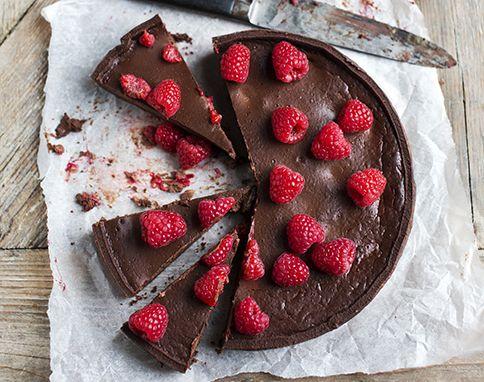 Ultimate chocolate and raspberry tart