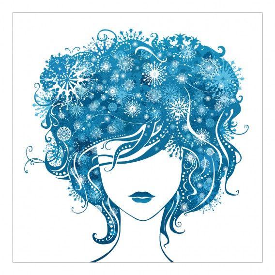 Stampa su tela Girl Blue 80x80cm | Home24