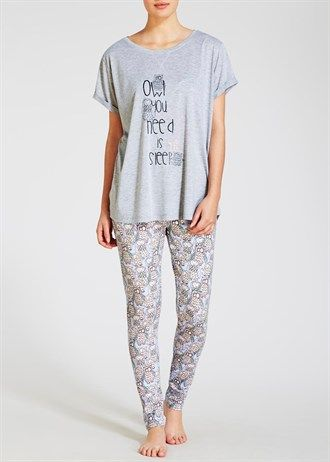 Owl Pyjama Leggings Set