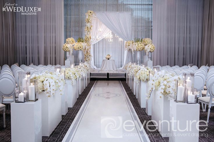 Indoor Classic Wedding Ceremony At Westbury Manor In: 1000+ Images About Drapes And Aisles Decor On Pinterest