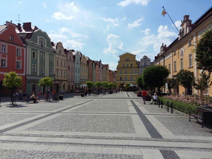 Straat in centrum Boleslawiec