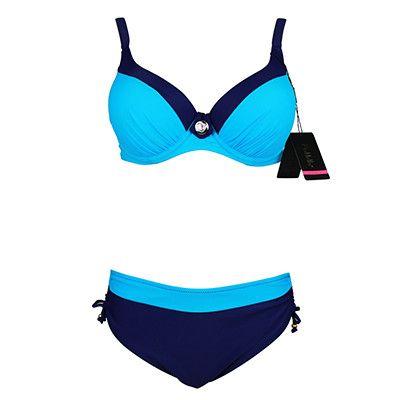 2016 Fashion Swimsuit Bikini Sexy Polka Dot Large Cup Bar small BottomBathing Suit Push Up Swimwear