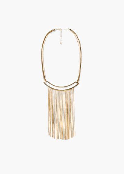 Многоярусное ожерелье из цепочек | MANGO
