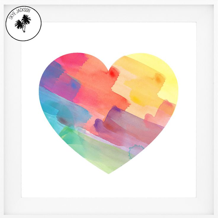 Heart Full of Love Print - Shop now  at www.skyejacksonstudio.com.au x