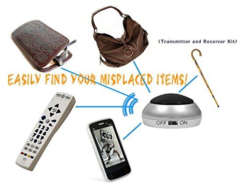 Localisateur d'Objets Anti-perte pour Retrouver vos Clés, Portefeuille, Sac, Télécommande, Téléphone Portable, Téléphone sans Fil, Etui à…