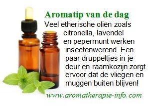 Etherische olie helpt prima tegen insecten. Natuurlijk en effectief