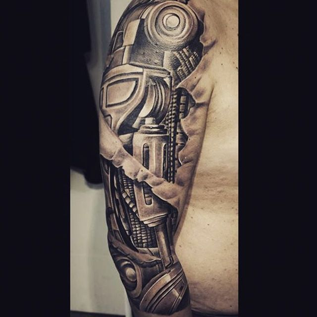 Images Of Biomechanical Tattoos: 49 Best Biomechanical Tattoo Images On Pinterest