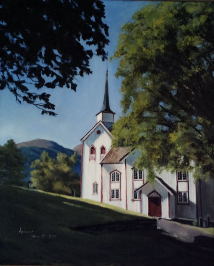 Øre Church,  oil on linen