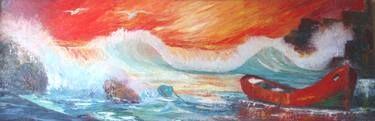 "Saatchi Art Artist Eduardo Barrios ; Painting, ""Sunset 1"" #art"