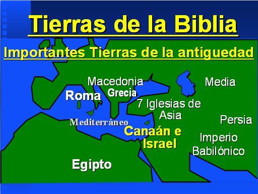 Ubicacion y mapas de lugares biblicos - Monografias.com