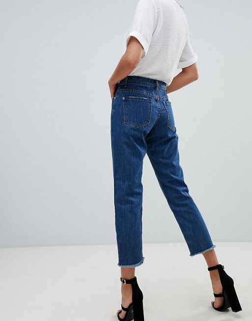 75d228f769f Missguided wrath straight leg jean in blue in 2019 | Basic | Fashion ...