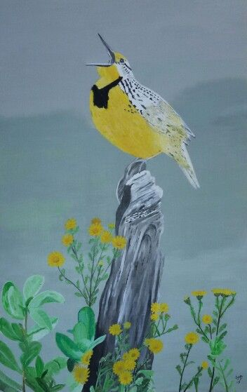 My painting - Bird