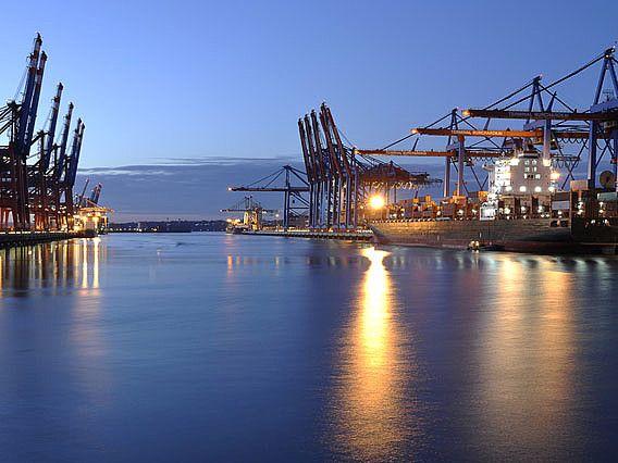 Hamburg Hafen am Nacht