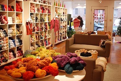 reminds me of my mom.....yarn shop