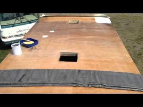 Installing Epdm Rubber Roofing On A Class C Motorhome Rv