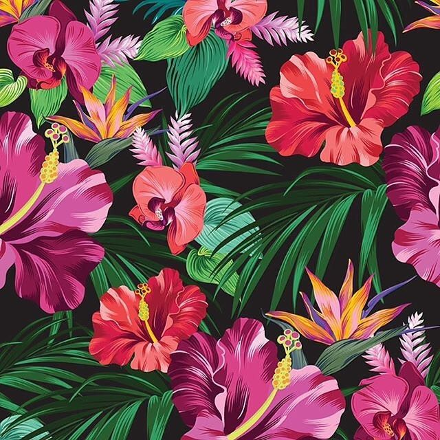 I wish I was in a warm place, near the sea » https://patternbank.com/belokrinitski - Wishing for a small vacation:) #artcollective #art_we_inspire #orchid #tropical #flower #floral #vector #illustration  #mywork #berlin #hibiscus #fashion #swimwear  #textile #textiledesign #bouquet #pattern #cintiq #wacom #art #beach #hawaii #vintage #boho #aloha #dspattern #dslooking #dscolor #redbubble #patternbank