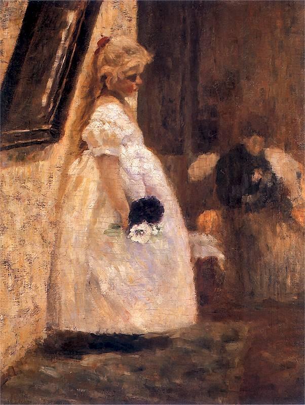 Olga Boznańska – Grandmother's Name Day (Imieniny babuni)