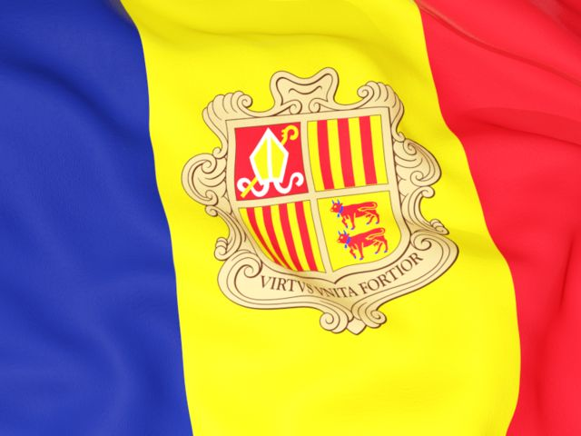 Flag background. Download flag icon of Andorra at PNG format