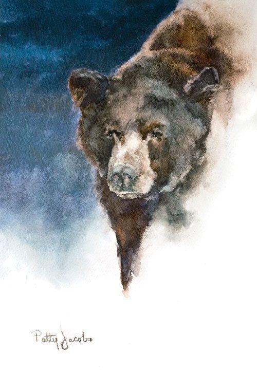 "Art Print - ""Bear Where"". $40.00, via Etsy."