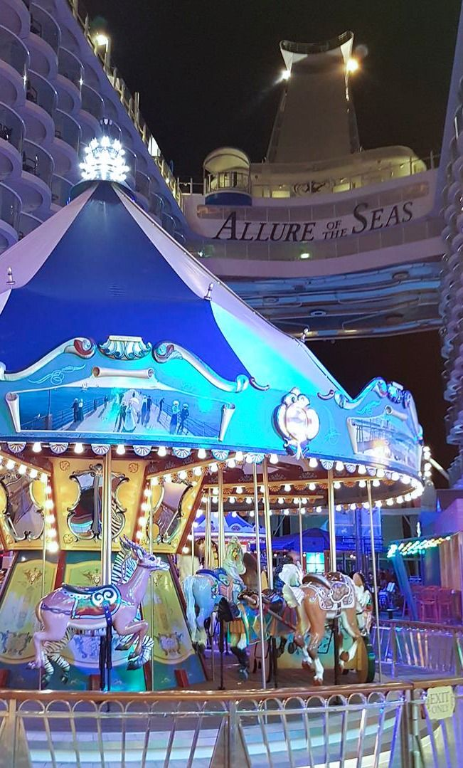 Allure of the Seas | Fun gets around. Cruise with Royal Caribbean on Allure of the Seas to enjoy action & adventure for all ages, like the Carousel & various games on the boardwalk, the H2O Zone kids' water park, the complimentary Adventure Ocean® Youth Program, and so much more.