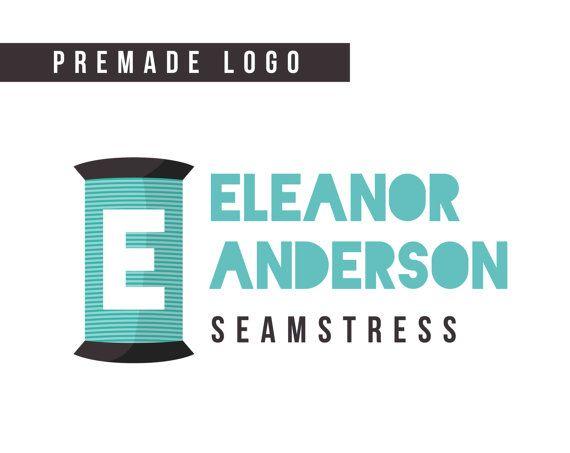 Premade Logo  sewing logo seamstress logo tailor by HayahDesigns