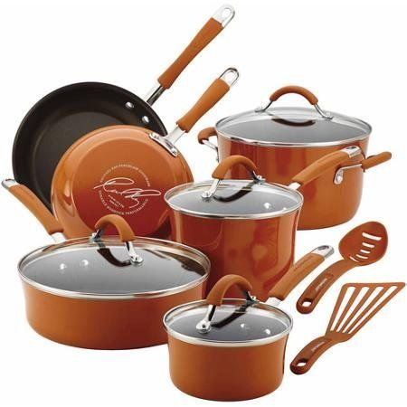 Cucina Hard Enamel Nonstick 12-piece Cookware Set Orange Rustic, Modern Color, Functionality and Design