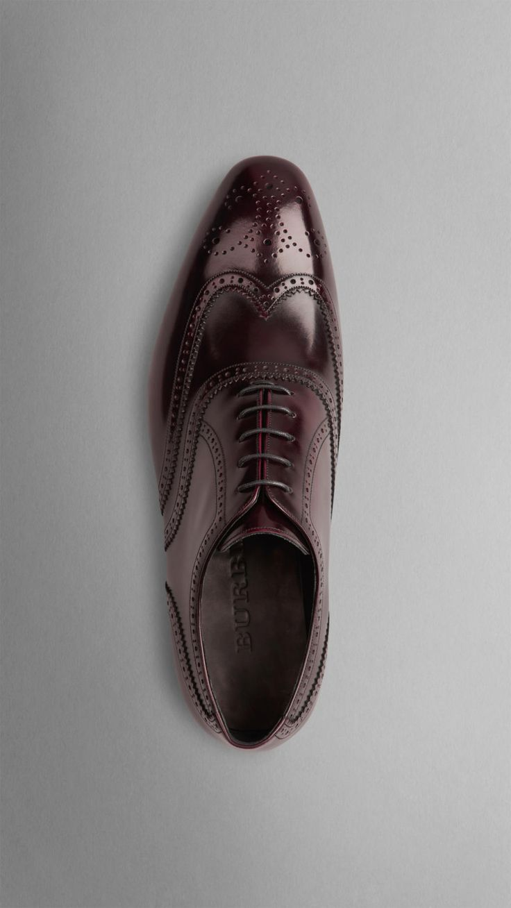 Leather Wingtip Brogues | Burberry
