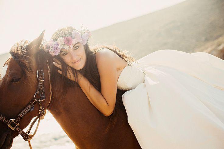 Dream your Wedding in Mykonos  www.mykonos-weddings.com Bridal Transfer - On Horse