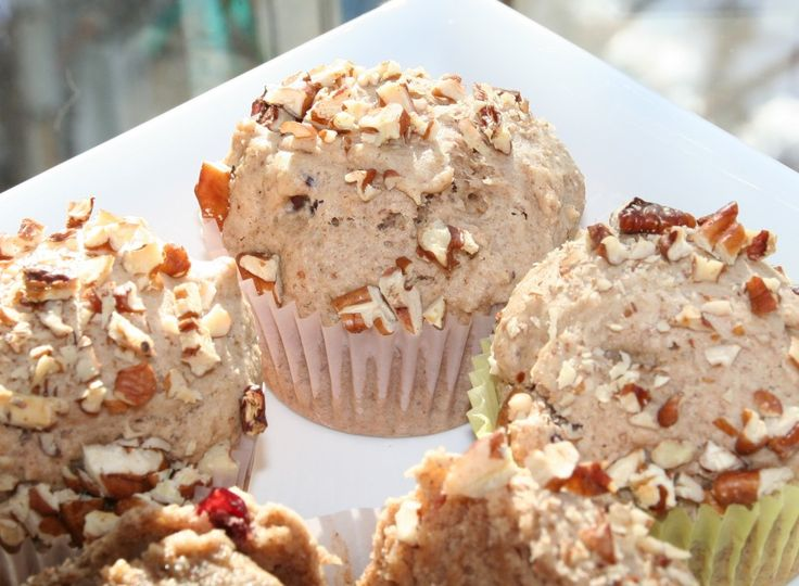 Cranberry-Pecan Butter Muffins from Nut Butter Universe by Robin Robertson