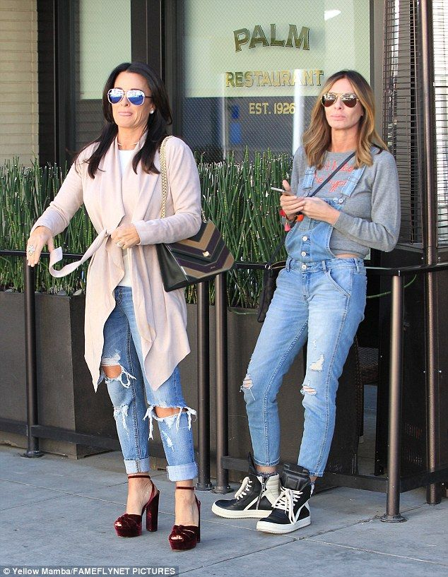 Gorgeous: Reality stars Kyle Richards (left) and Carole Radziwill were snapped at The Palm in Kyle's native Beverly Hills Friday