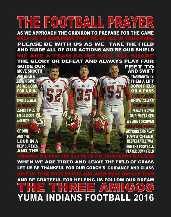 The Football Prayer with photo personalized 11 X by JoFloDesigns33