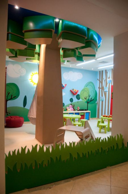 play room, daycare, A daycare designed for Casacor Interior design Show in collaboration with architects Juan Manuel Rodriguez and  Jose David Jimenez, cartoon like tree and grass , Other Spaces Design