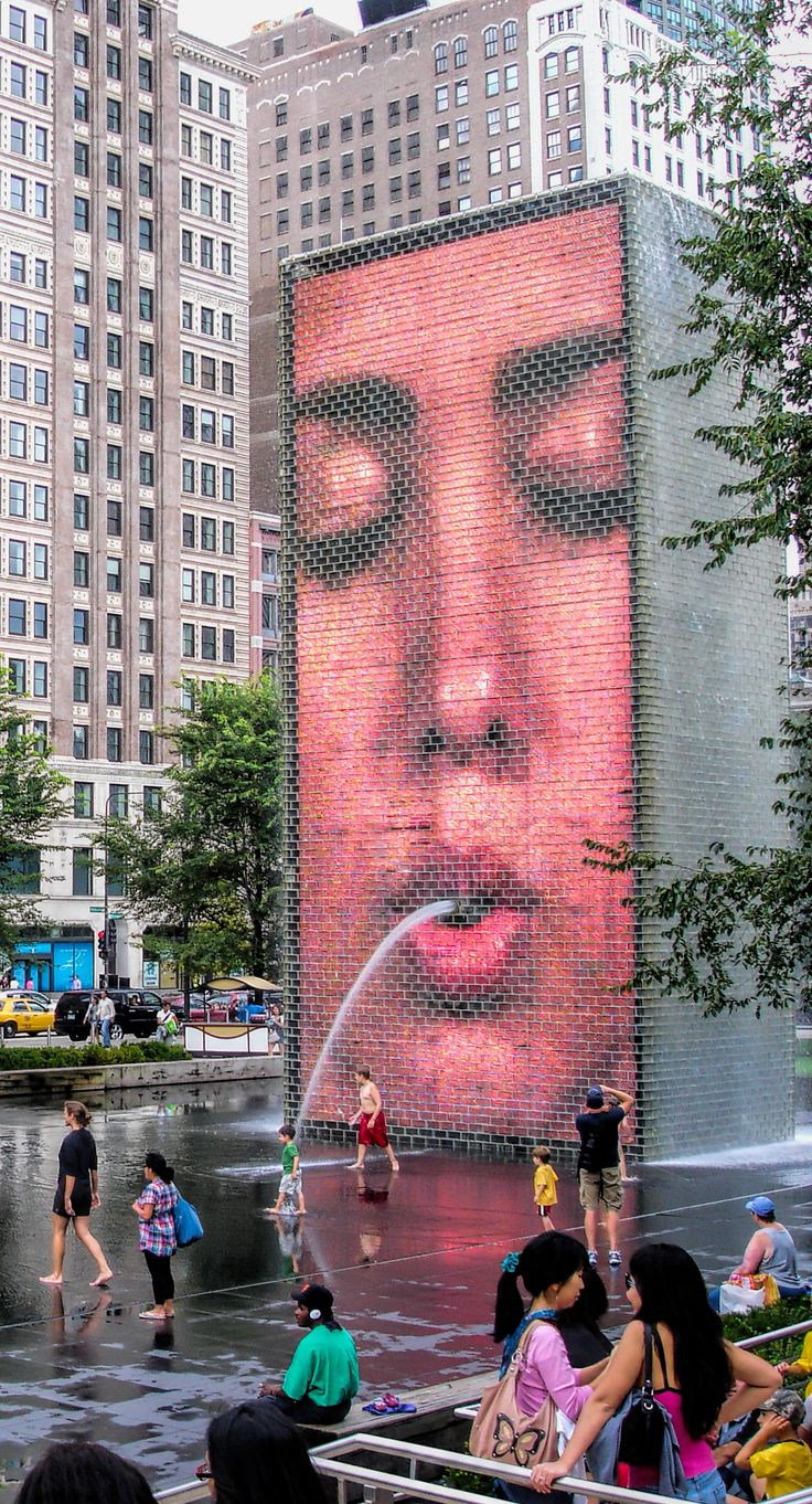 ... Crown Fountain, Chicago. Click here and discover the unique infrastructures installed in the park.