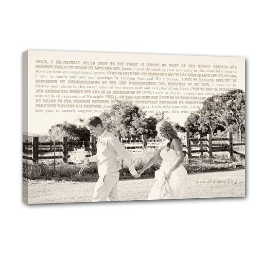 Vintage Canvas Pictures Wedding Song Lyrics