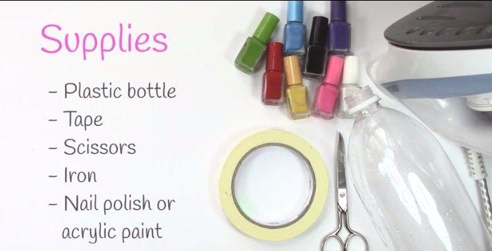 Maak de mooiste en goedkoopste armbanden met een lege plastic fles en een strijkijzer!