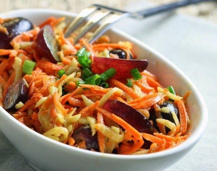 Cantinho Vegetariano: Salada de Cenoura com Maçã e Uva (vegana)