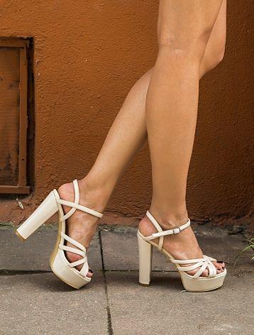 Hollace Bej Rugan Dekolte Platform Ayakkabı