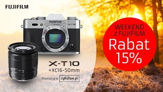 Weekend z Fujifilm: zestaw X-T10 + ob. 16-50mm 15% taniej!