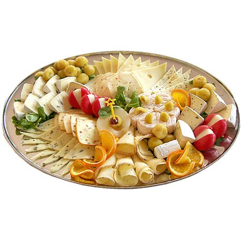 An attractive cheese platter arranged for a Wine and Cheese Party