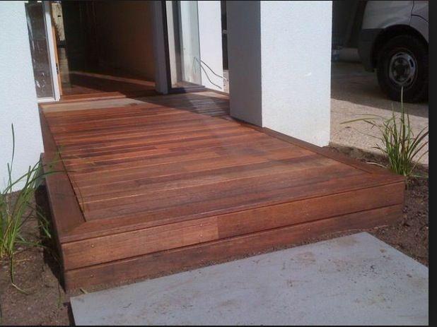 """""""Deck"""" at front door"""