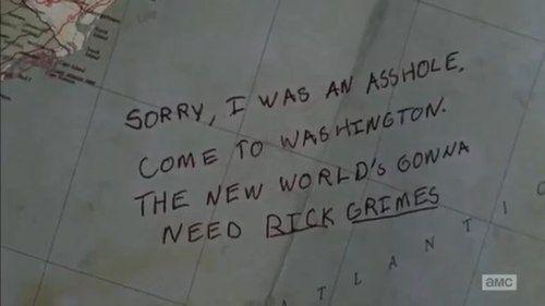 — Прости, я был дураком. Приезжай в Вашингтон. Новому миру понадобится Рик Граймс.